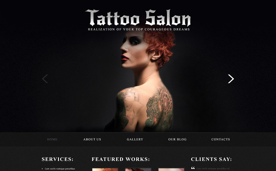 Responsive Joomla Template over Tatoeage Salon  New Screenshots BIG