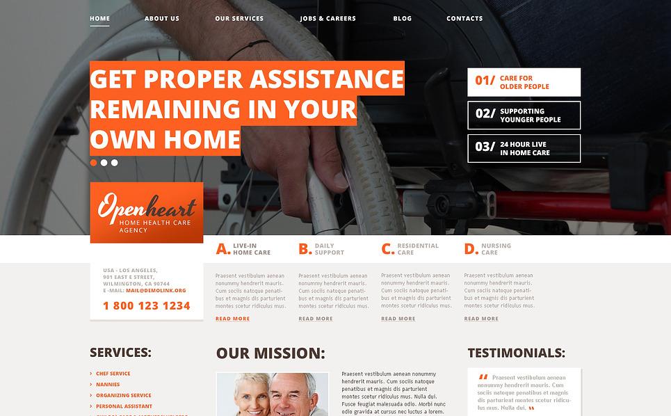 Responsive WordPress thema over Rehabilitatie  New Screenshots BIG