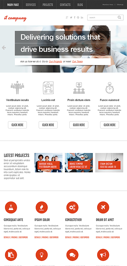 WordPress Theme/Template 46381 Main Page Screenshot