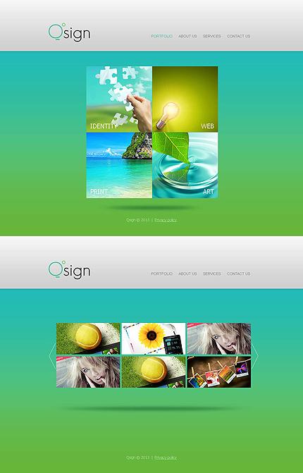 ADOBE Photoshop Template 46392 Home Page Screenshot