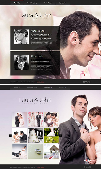 ADOBE Photoshop Template 46393 Home Page Screenshot