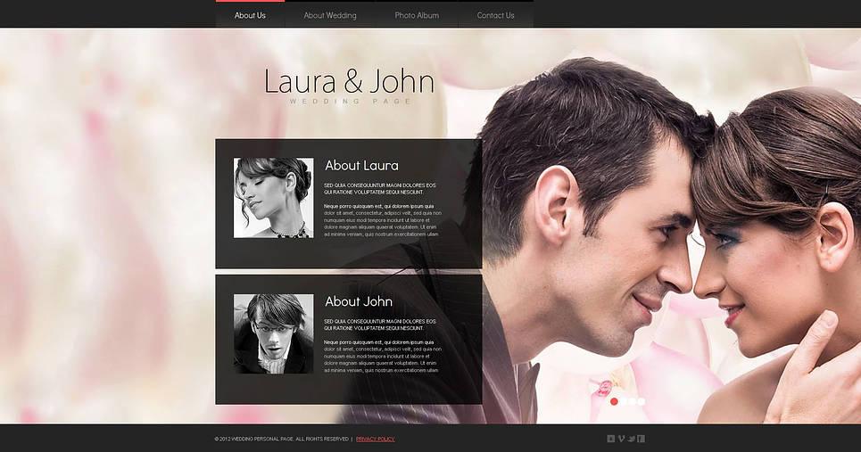 Wedding Website Template with Huge Background Image - image