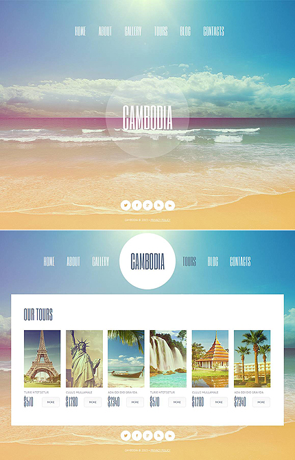 ADOBE Photoshop Template 46394 Home Page Screenshot