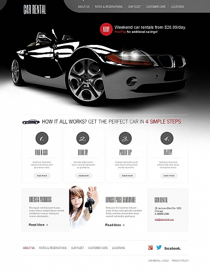ADOBE Photoshop Template 46396 Home Page Screenshot
