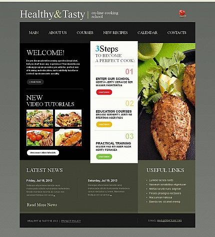 ADOBE Photoshop Template 46399 Home Page Screenshot