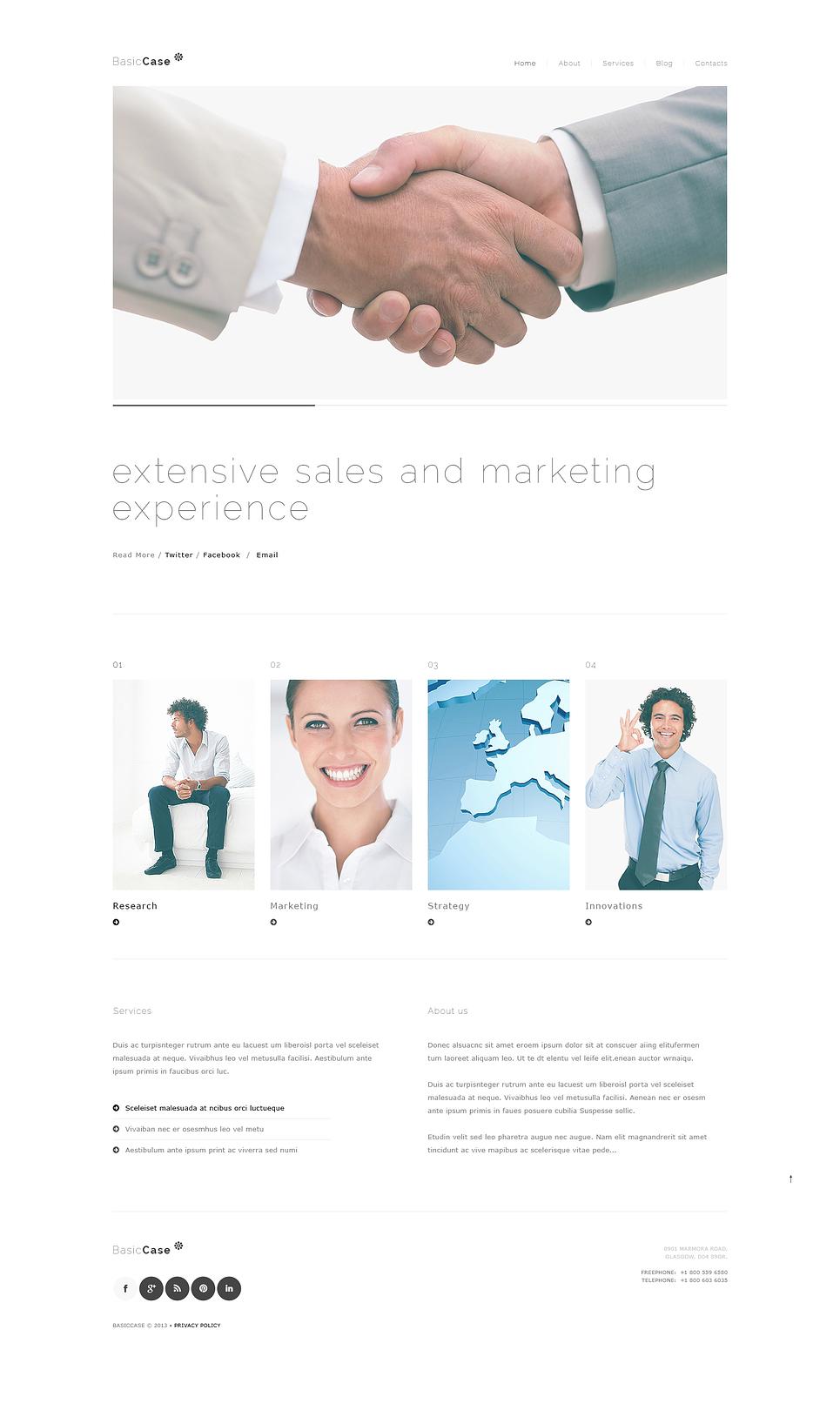 Адаптивный шаблон сайта на тему маркетинговое агентство #46384