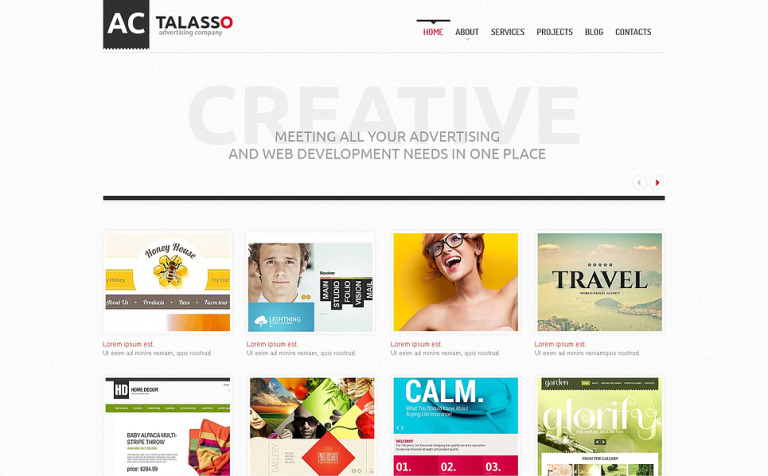 Advertising Agency WordPress Theme #46377
