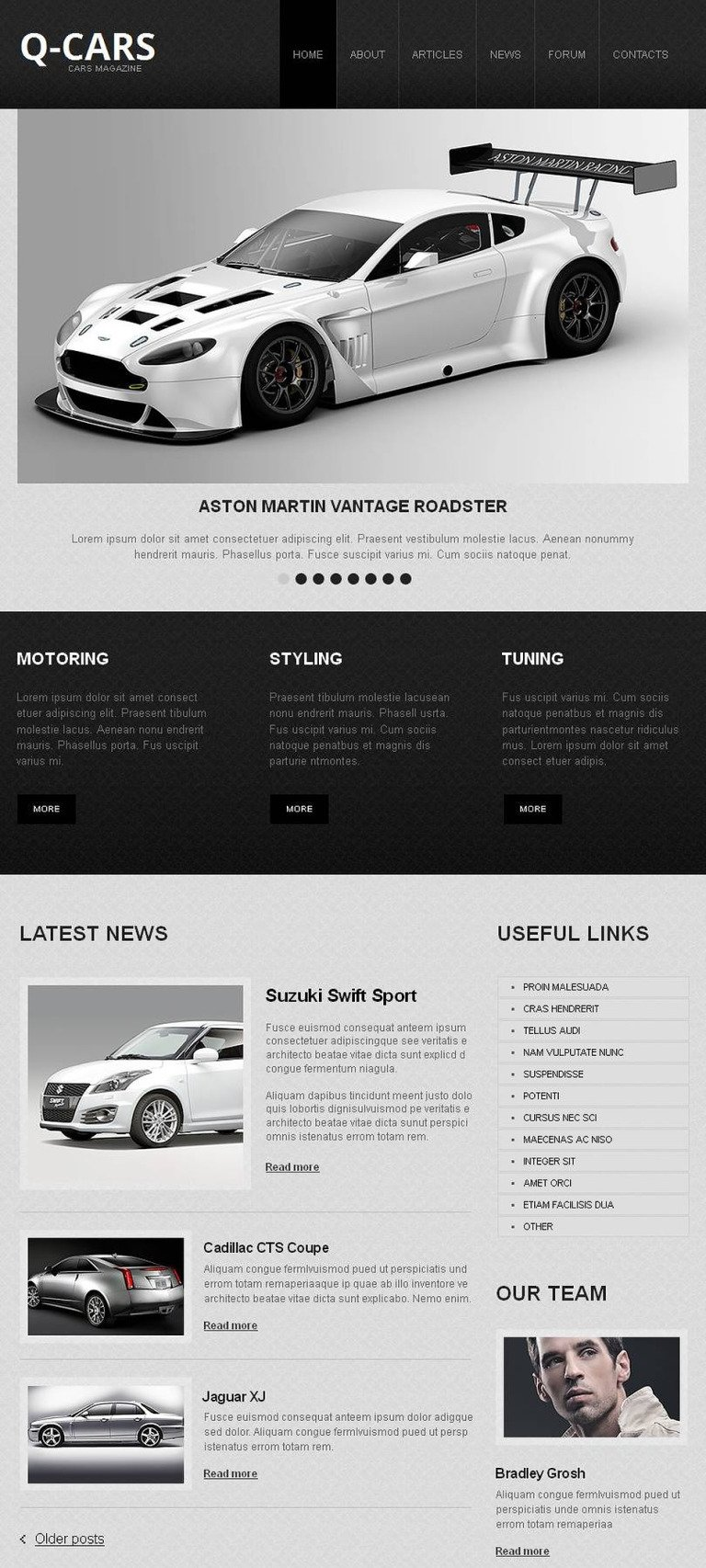 Car Club Facebook HTML CMS Template New Screenshots BIG