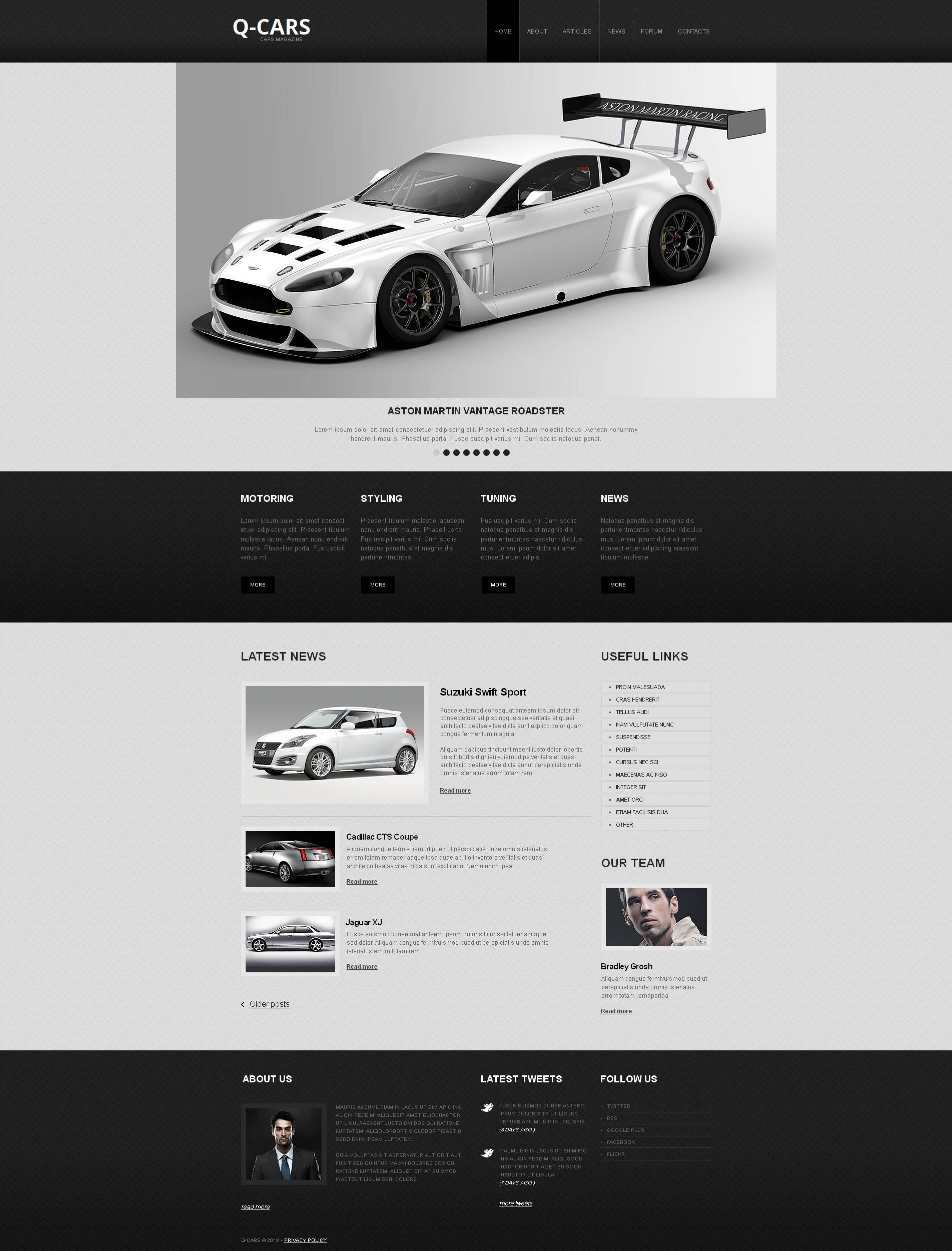 Car dealer moto cms html template