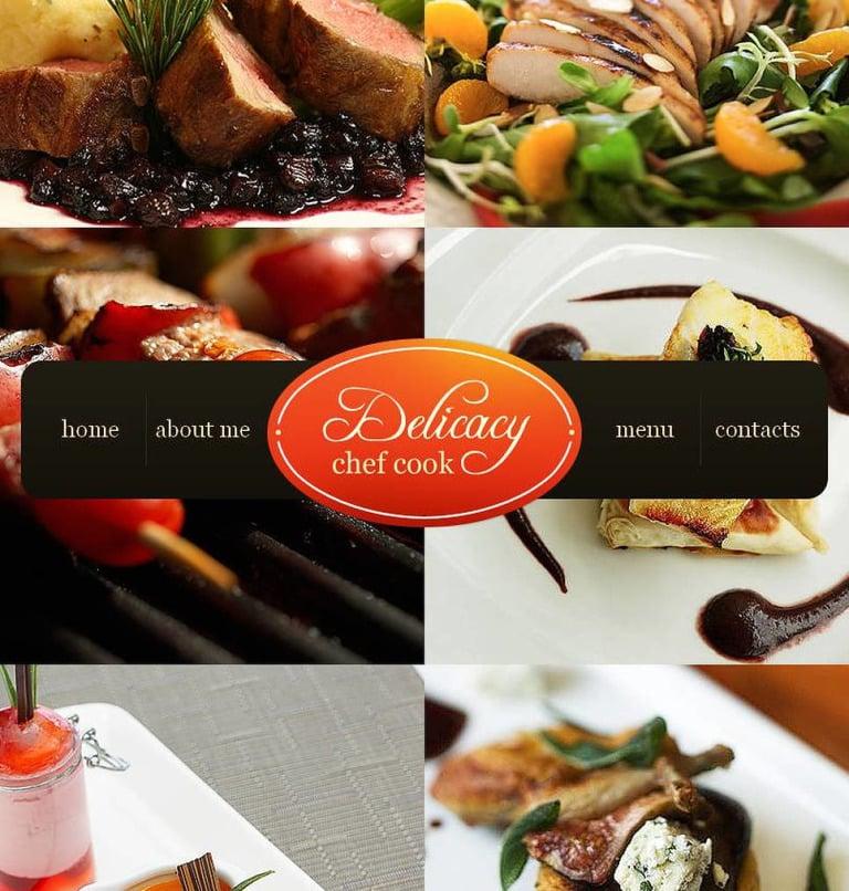 Chef Facebook HTML CMS Template New Screenshots BIG