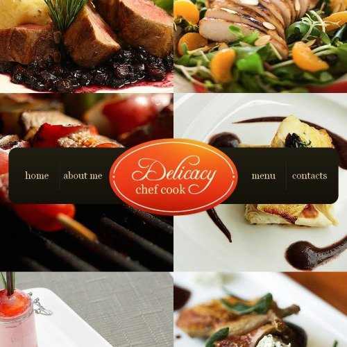 Delicacy - Facebook HTML CMS Template