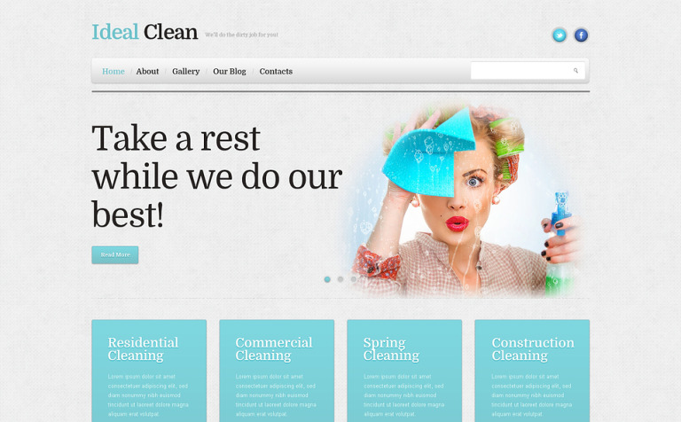Cleaning Responsive WordPress Theme #46386