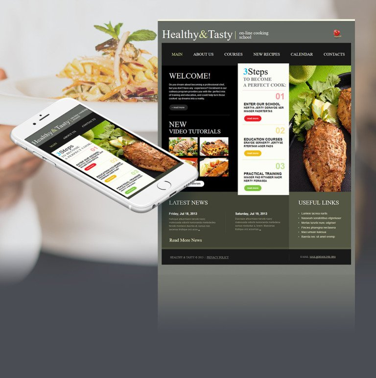 Cooking School Moto CMS HTML Template New Screenshots BIG