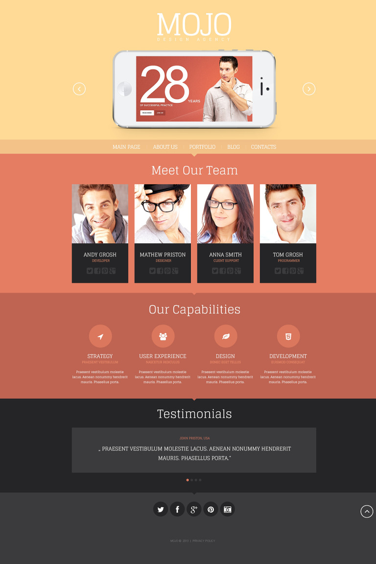 Design Agency WordPress Theme New Screenshots BIG