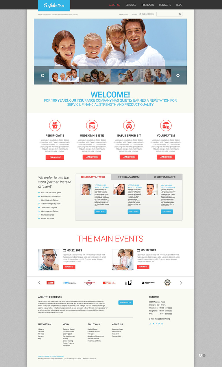 Effective Insurance WordPress Theme New Screenshots BIG