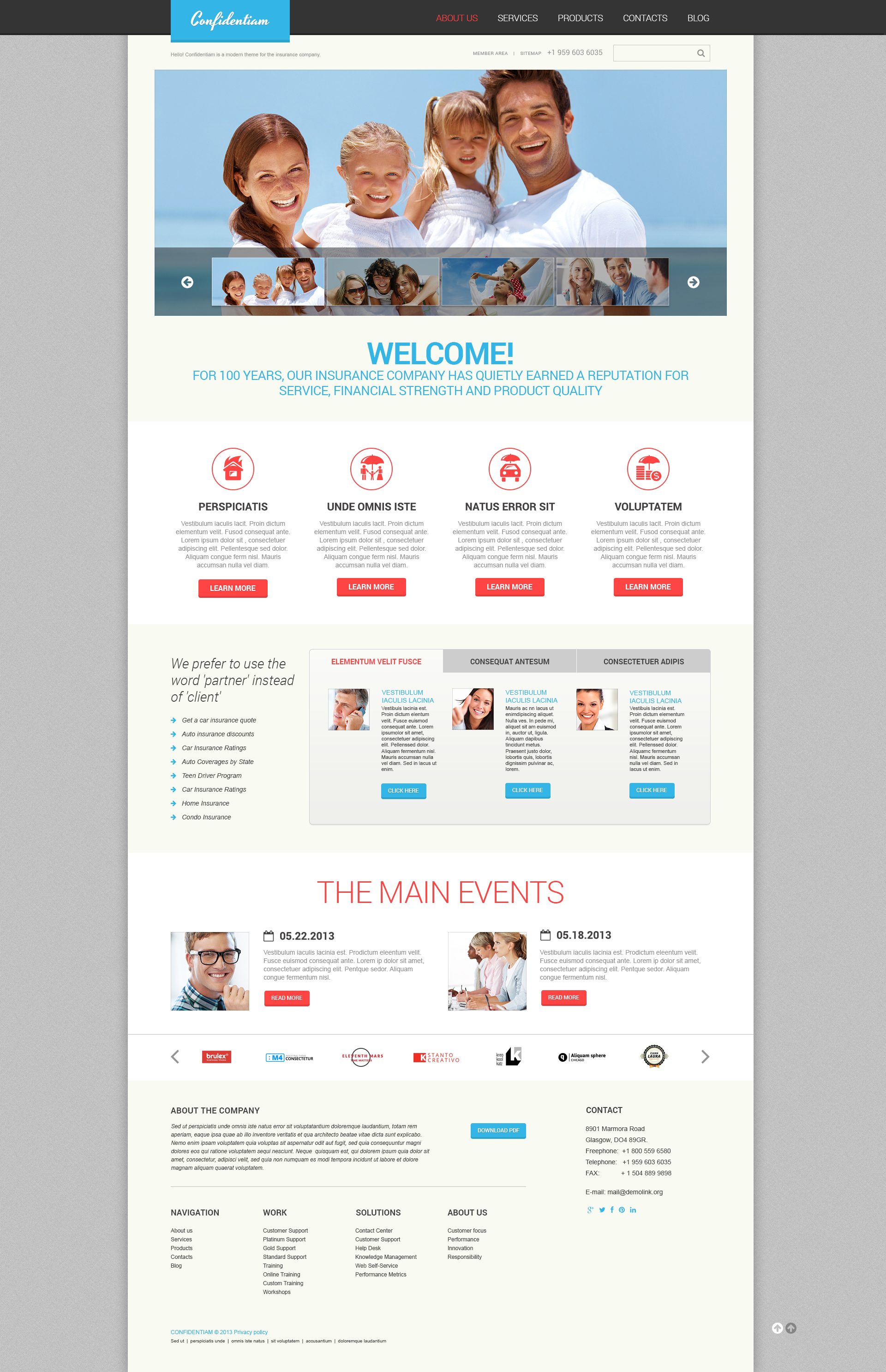 Effective Insurance WordPress Theme