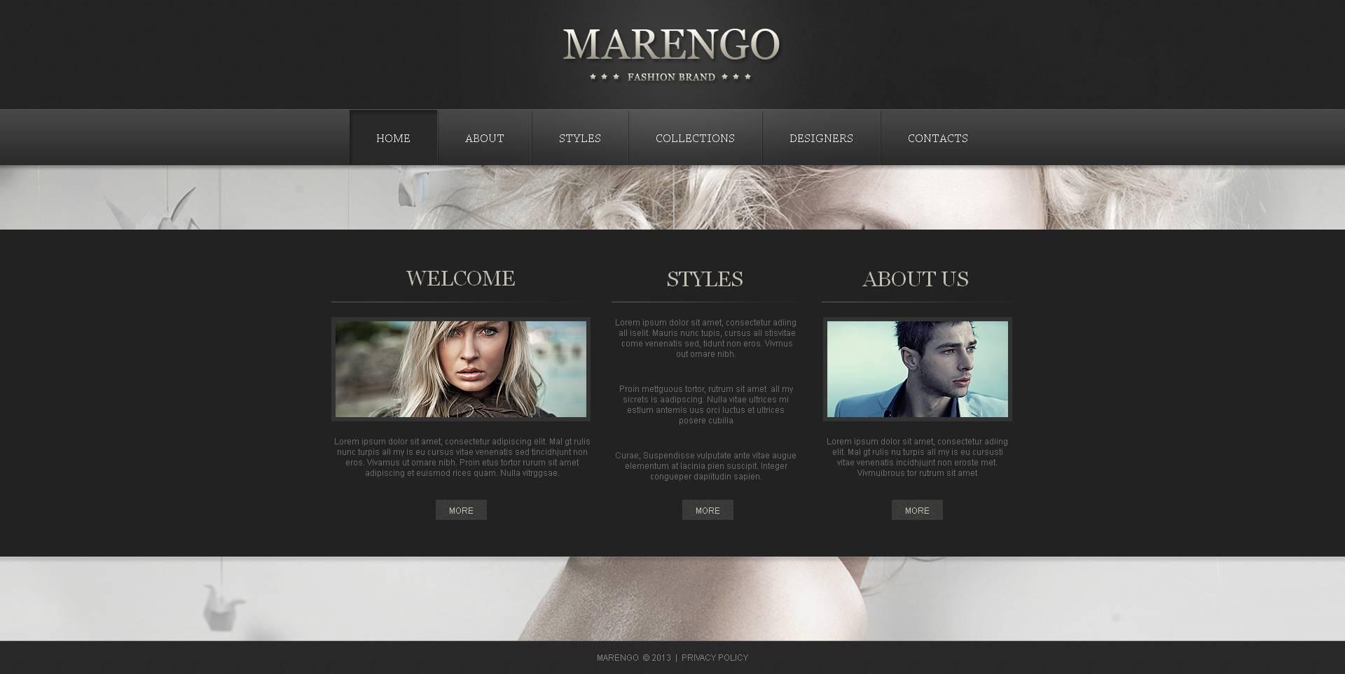 Fashion Blog Moto CMS HTML Template #46300