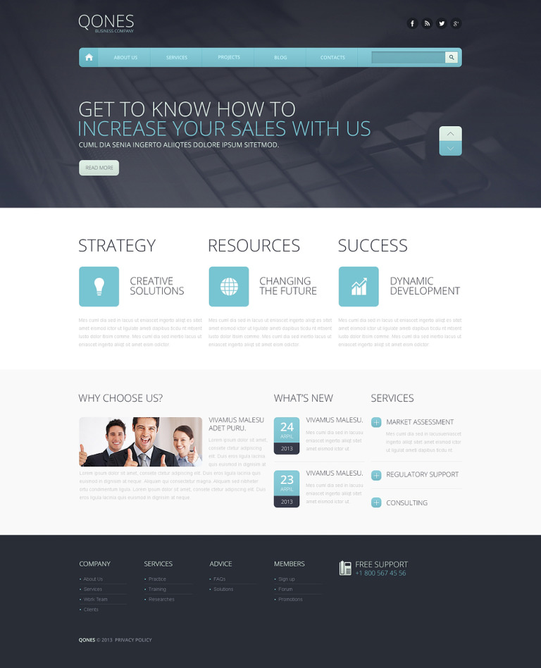 Flat Marketing Agency Drupal Template New Screenshots BIG