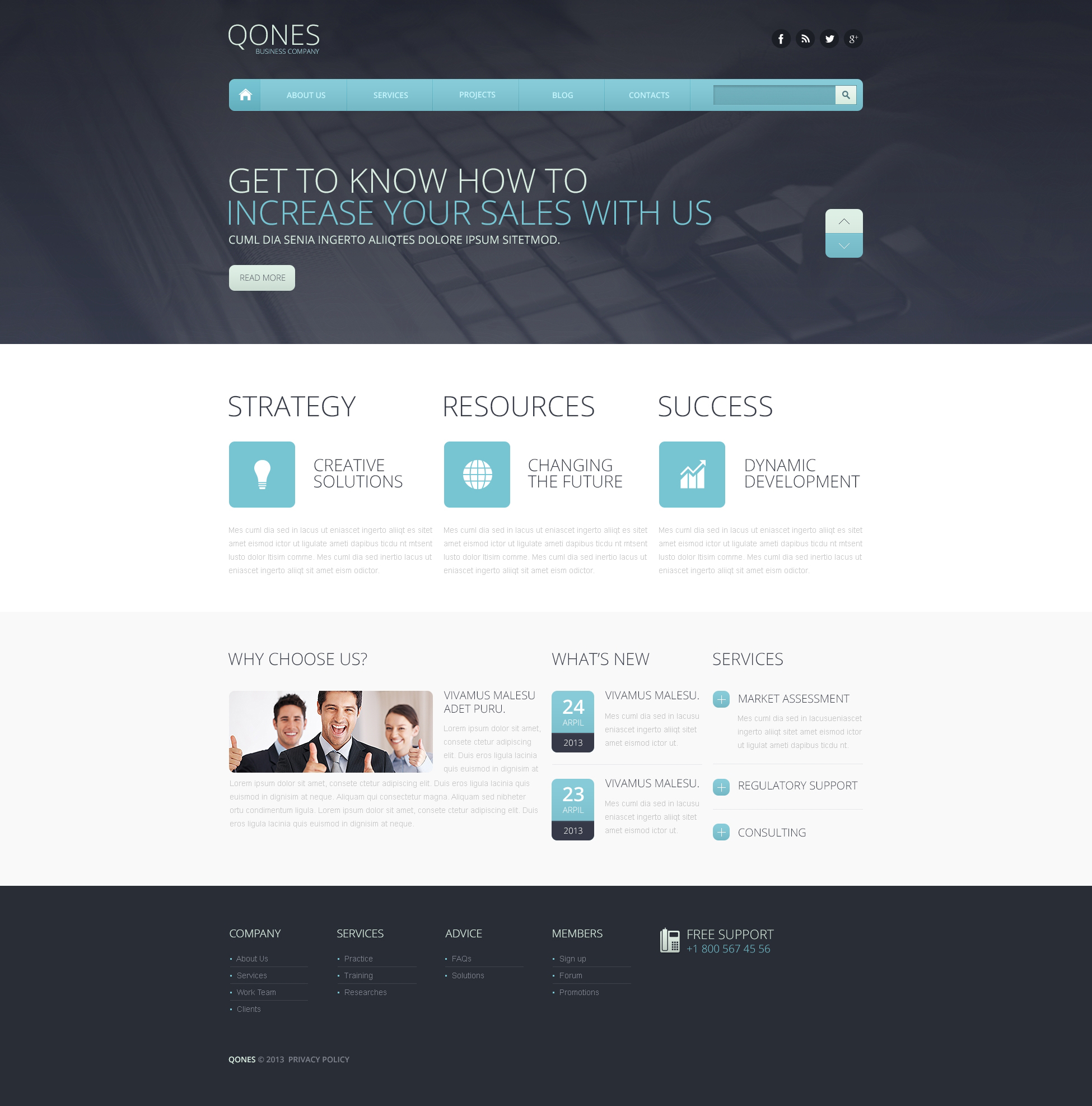 Flat Marketing Agency Drupal Template - screenshot