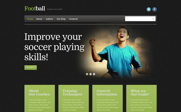 Football Responsive WordPress Theme #46387