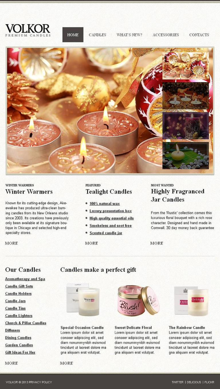 Gifts Store Facebook HTML CMS Template New Screenshots BIG