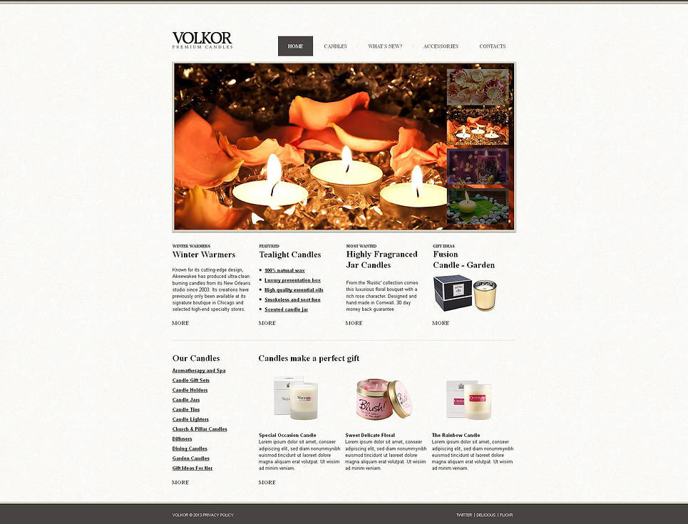 Gifts Store Moto CMS HTML Template New Screenshots BIG