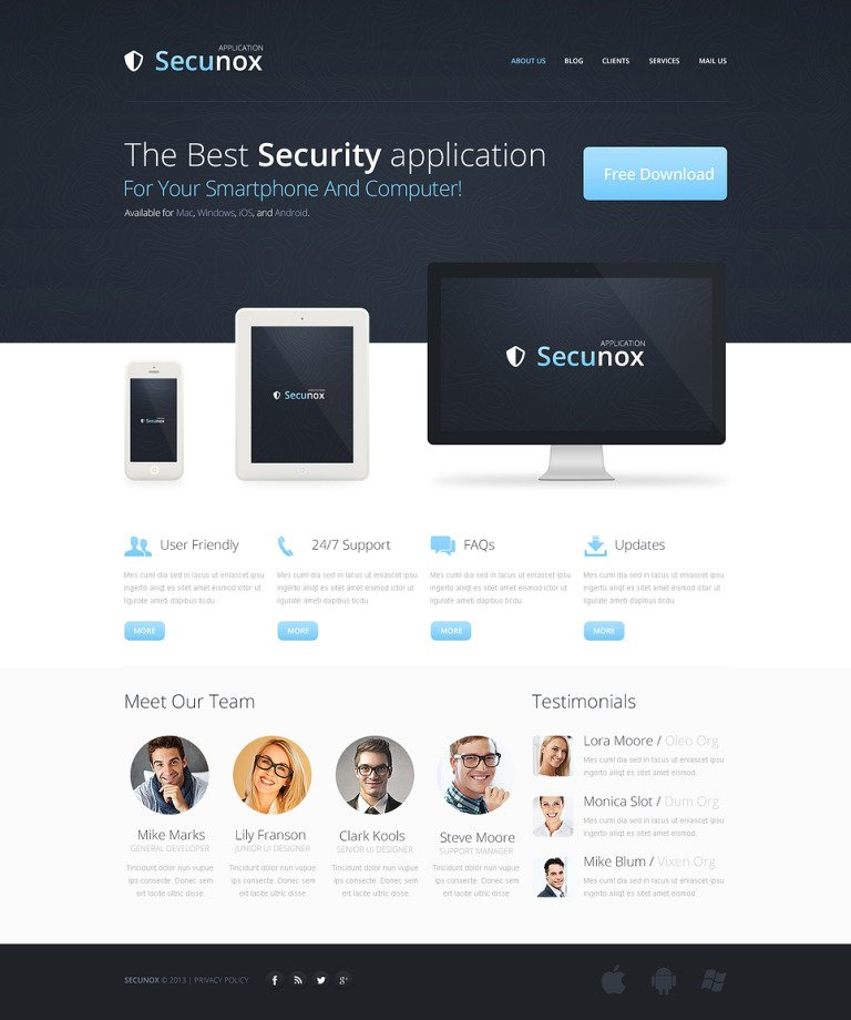 Information Security Drupal Template New Screenshots BIG