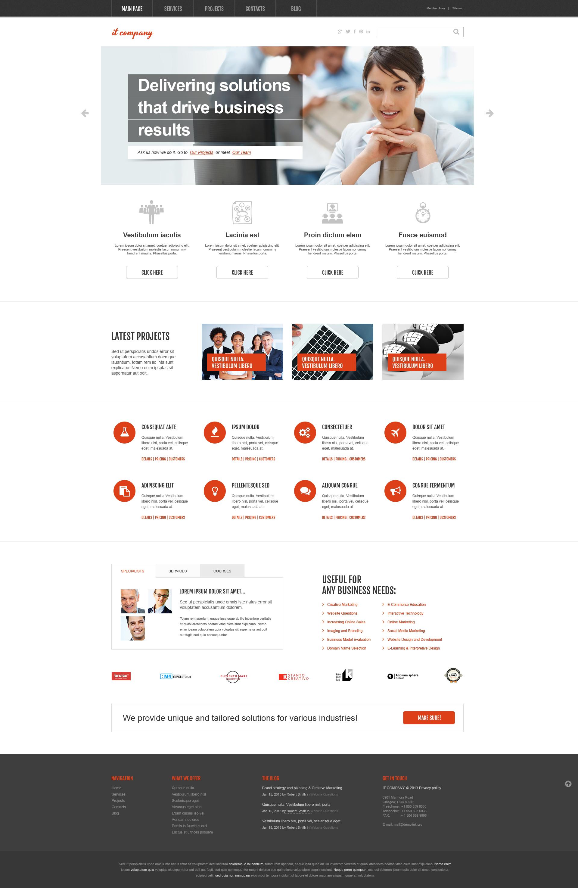 """""""IT Company"""" - адаптивний WordPress шаблон №46381"""