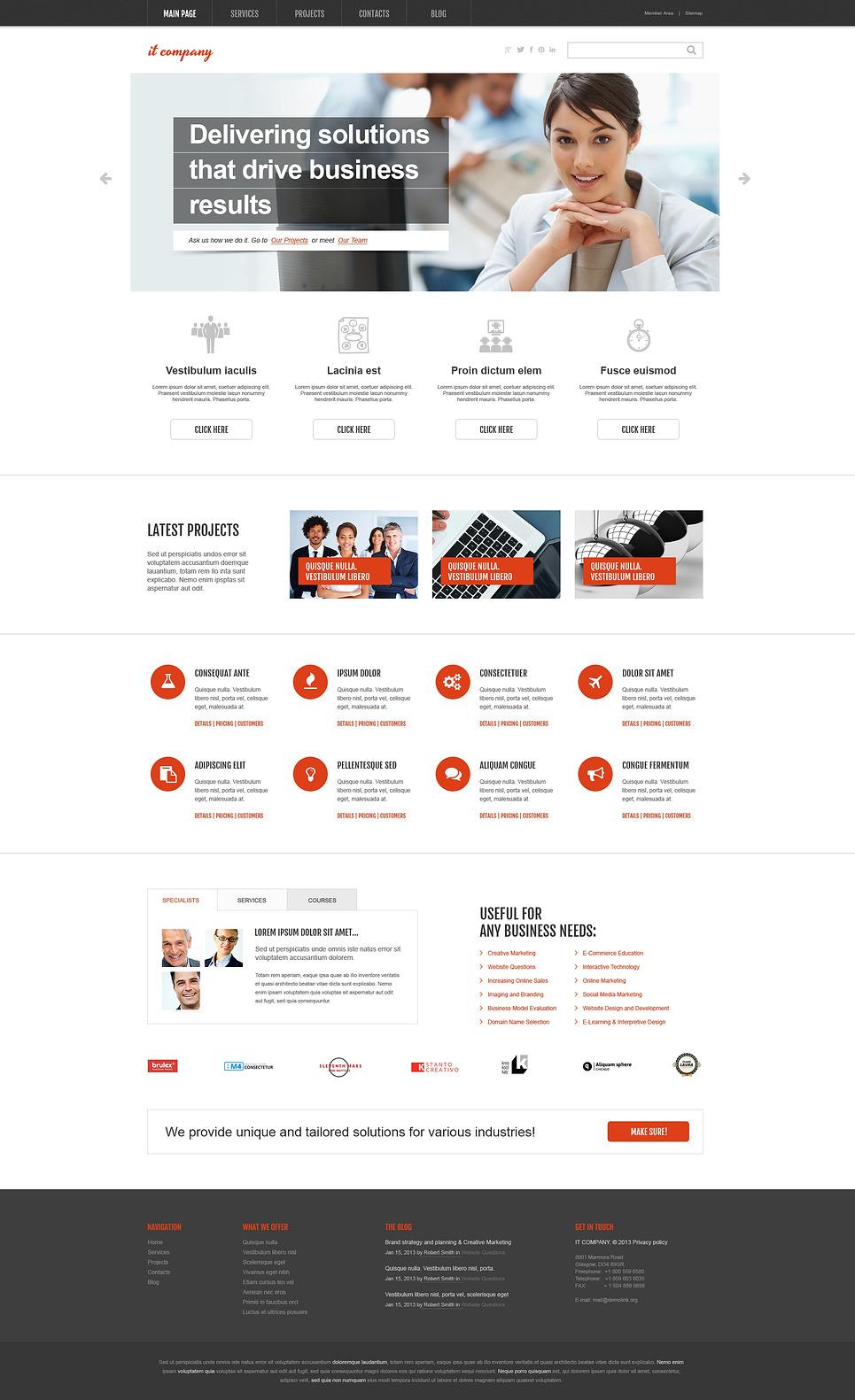 IT Company WordPress Theme New Screenshots BIG