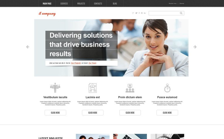 It company wordpress theme 46381 it company wordpress theme friedricerecipe Images