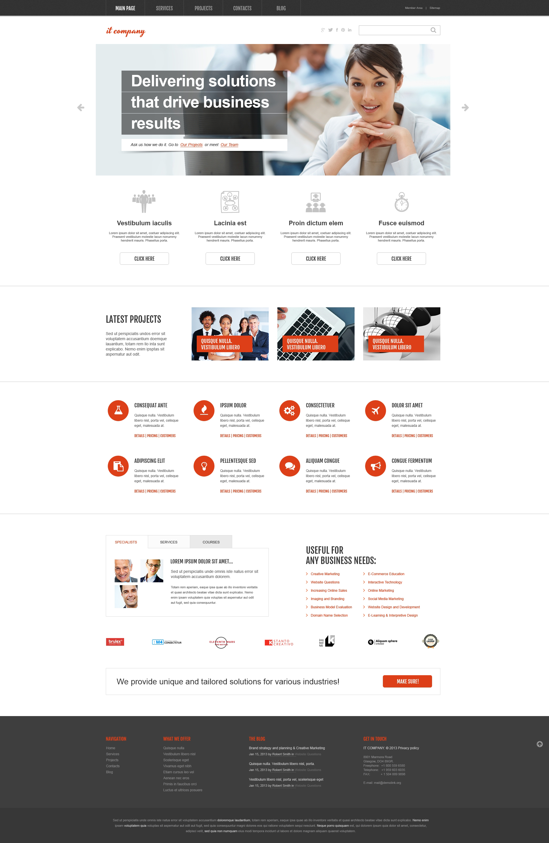 IT Company WordPress Theme - screenshot