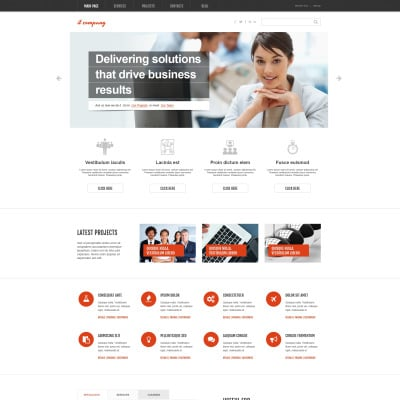 IT Company WordPress Theme #46381