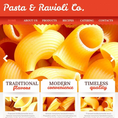 Pasta & Ravioli - Facebook HTML CMS Template