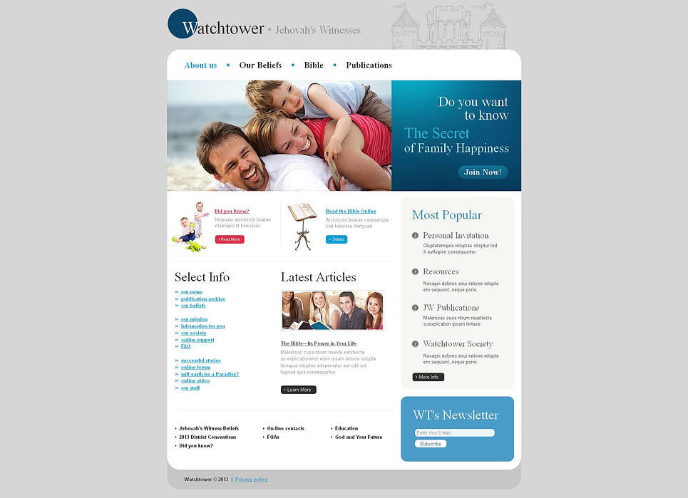 Jehovah Witnesses Moto CMS HTML Template New Screenshots BIG
