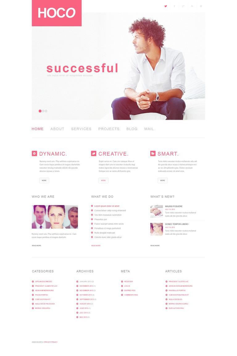 Modern Business WordPress Theme New Screenshots BIG