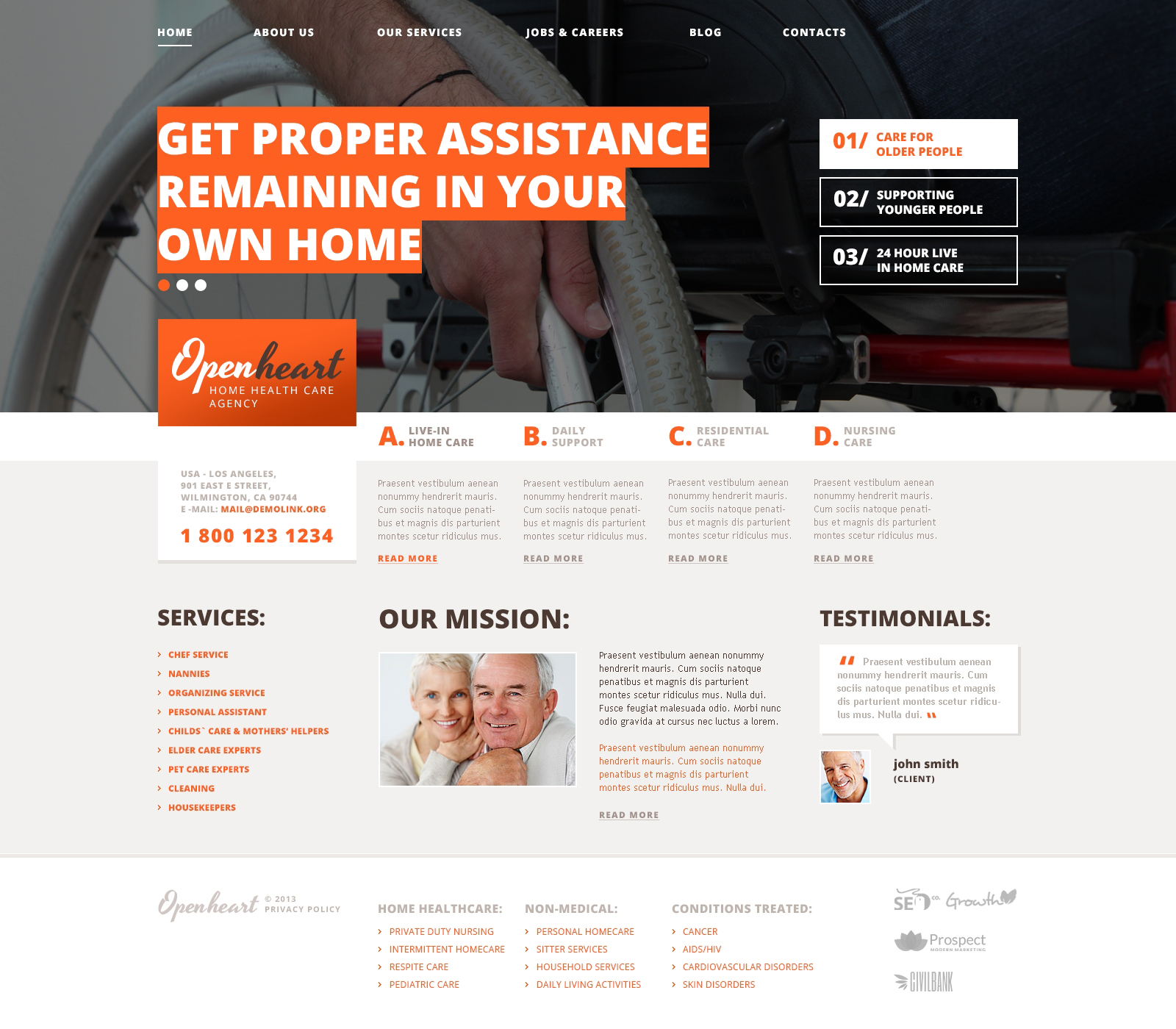 Motivational Rehabilitation WordPress Theme