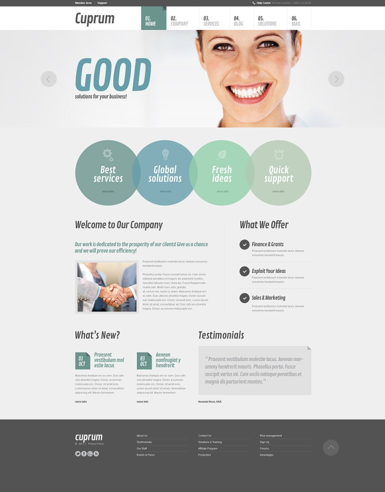 Outsourcing Agency Joomla Template New Screenshots BIG