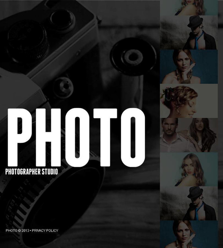 Photo Studio Facebook HTML CMS Template New Screenshots BIG