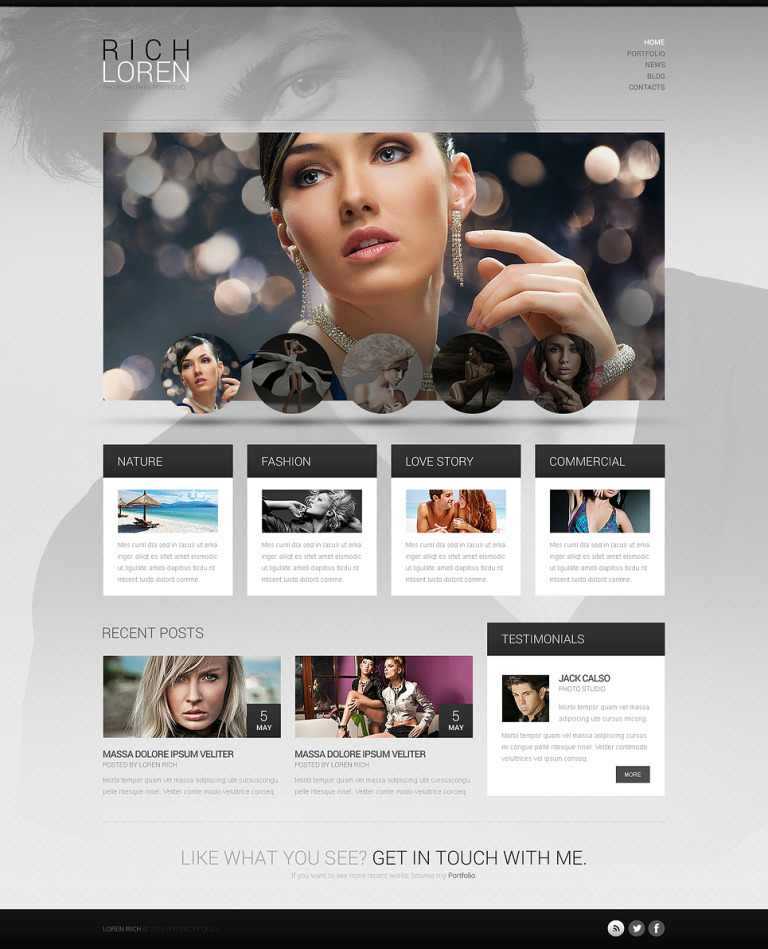 Photographer Portfolio WordPress Theme New Screenshots BIG