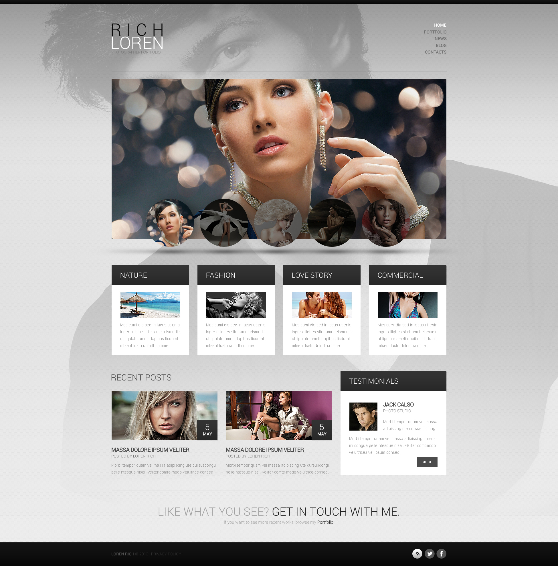 Photographer Portfolio WordPress Theme #46385