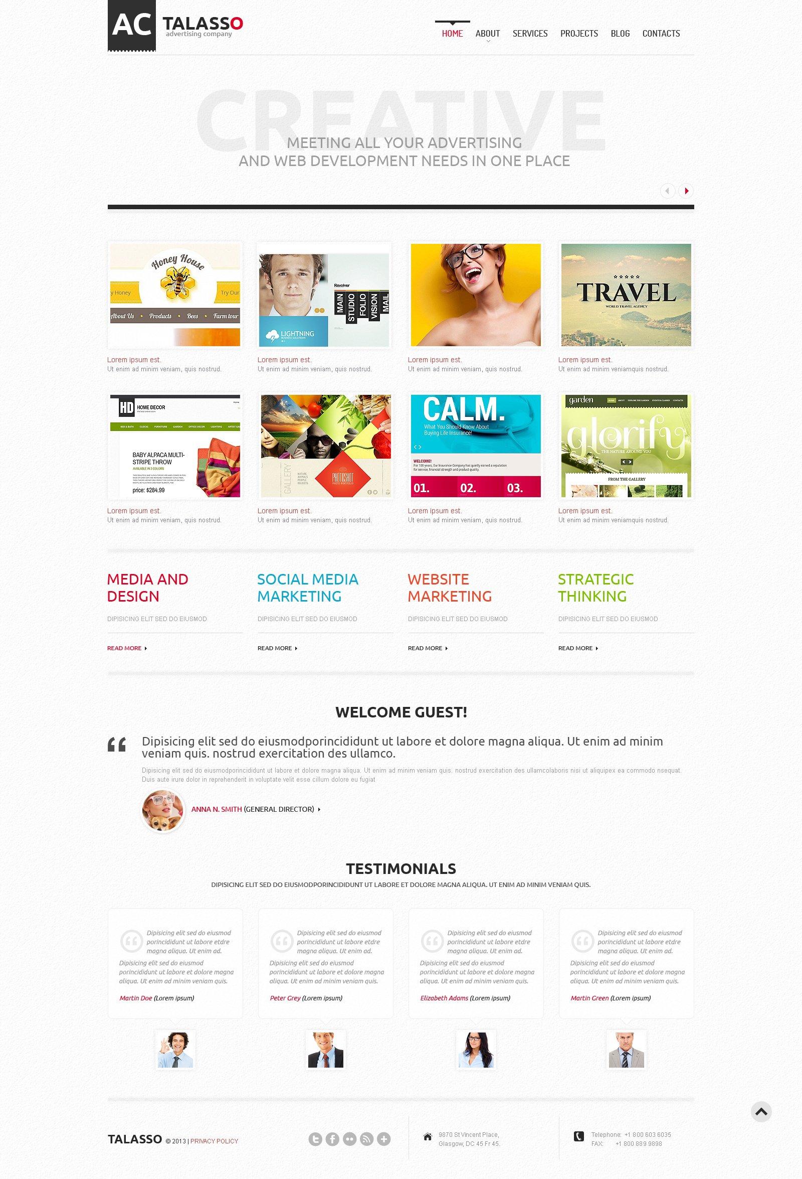 Responsive Advertising Agency Wordpress #46377 - Ekran resmi