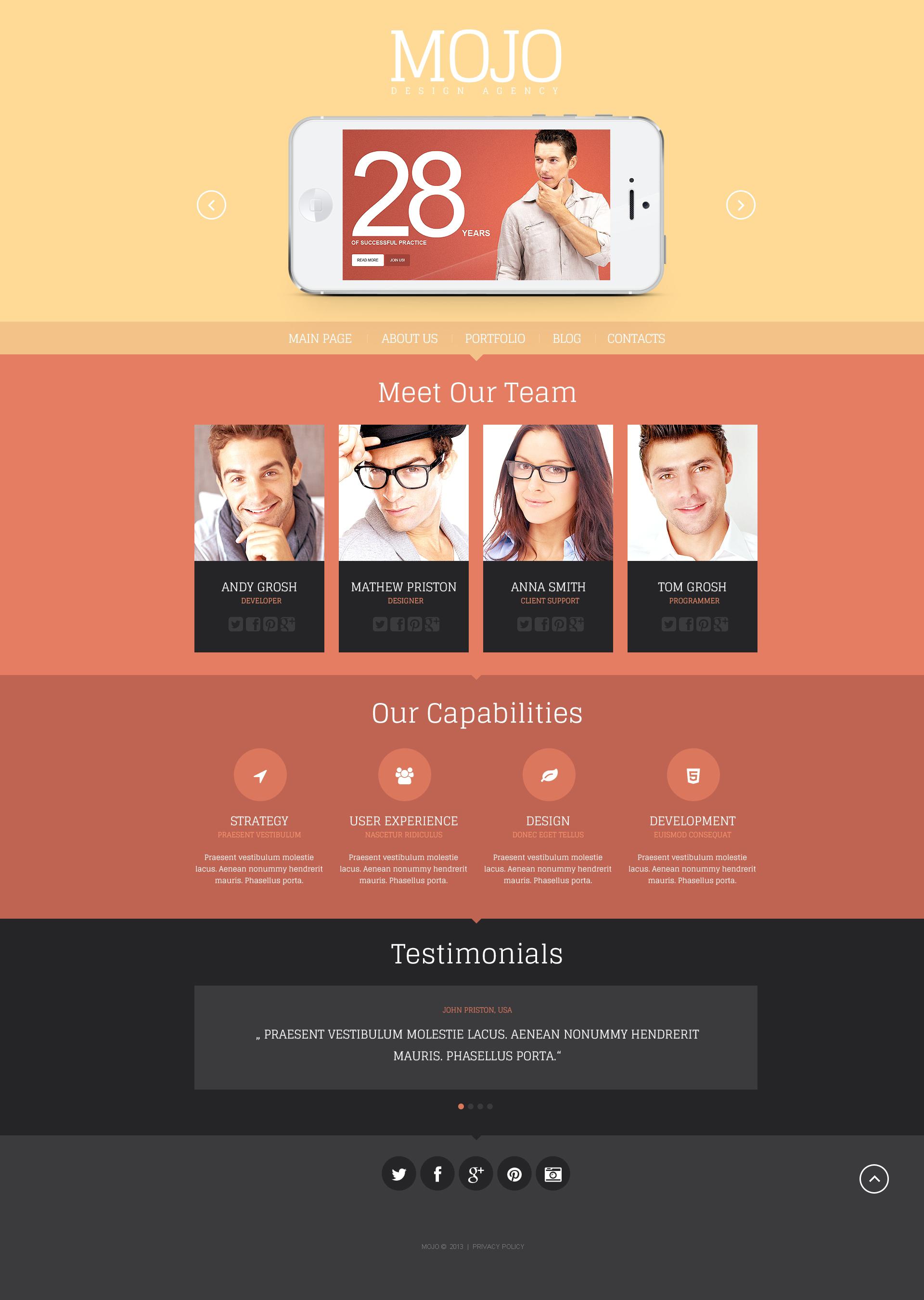Responsive Design Agency Wordpress #46376 - Ekran resmi