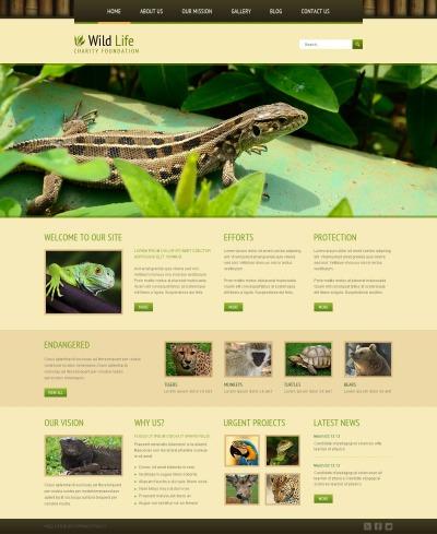 Responsive Joomla Vorlage für Tierwelt