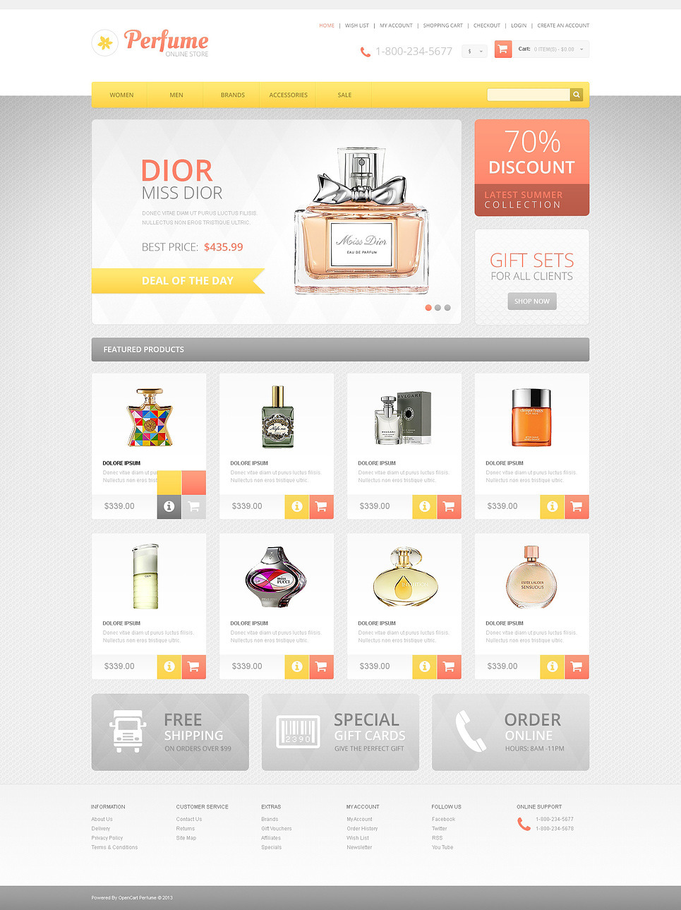 Responsive Perfumes Store OpenCart Template New Screenshots BIG
