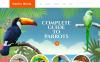Responsive Website Vorlage für Vögel  New Screenshots BIG