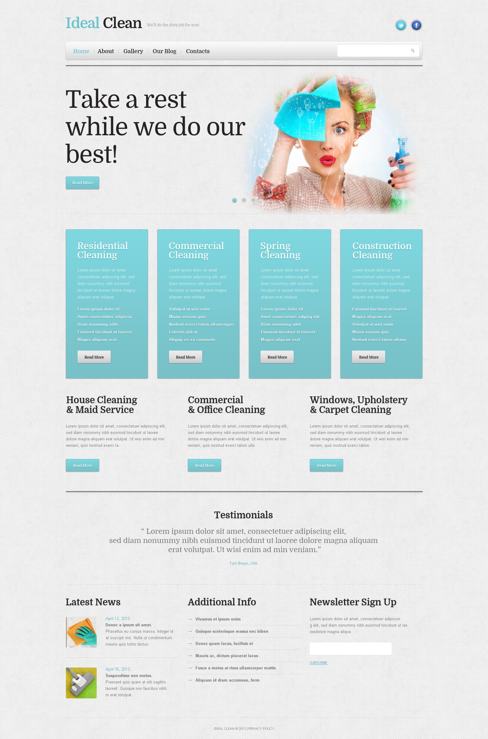 WordPress Theme #46386 für Reinigung