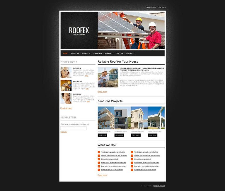 Roofing Company Moto CMS HTML Template New Screenshots BIG