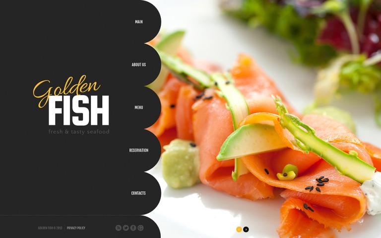 Seafood Restaurant Website Template New Screenshots BIG