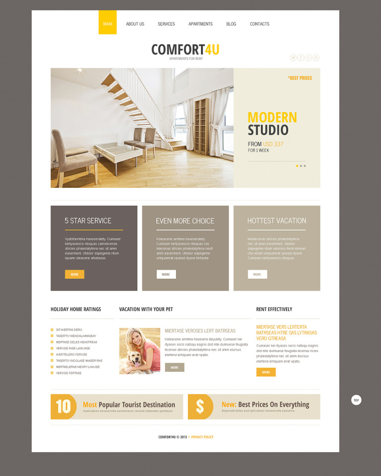 Square Real Estate Joomla Template New Screenshots BIG