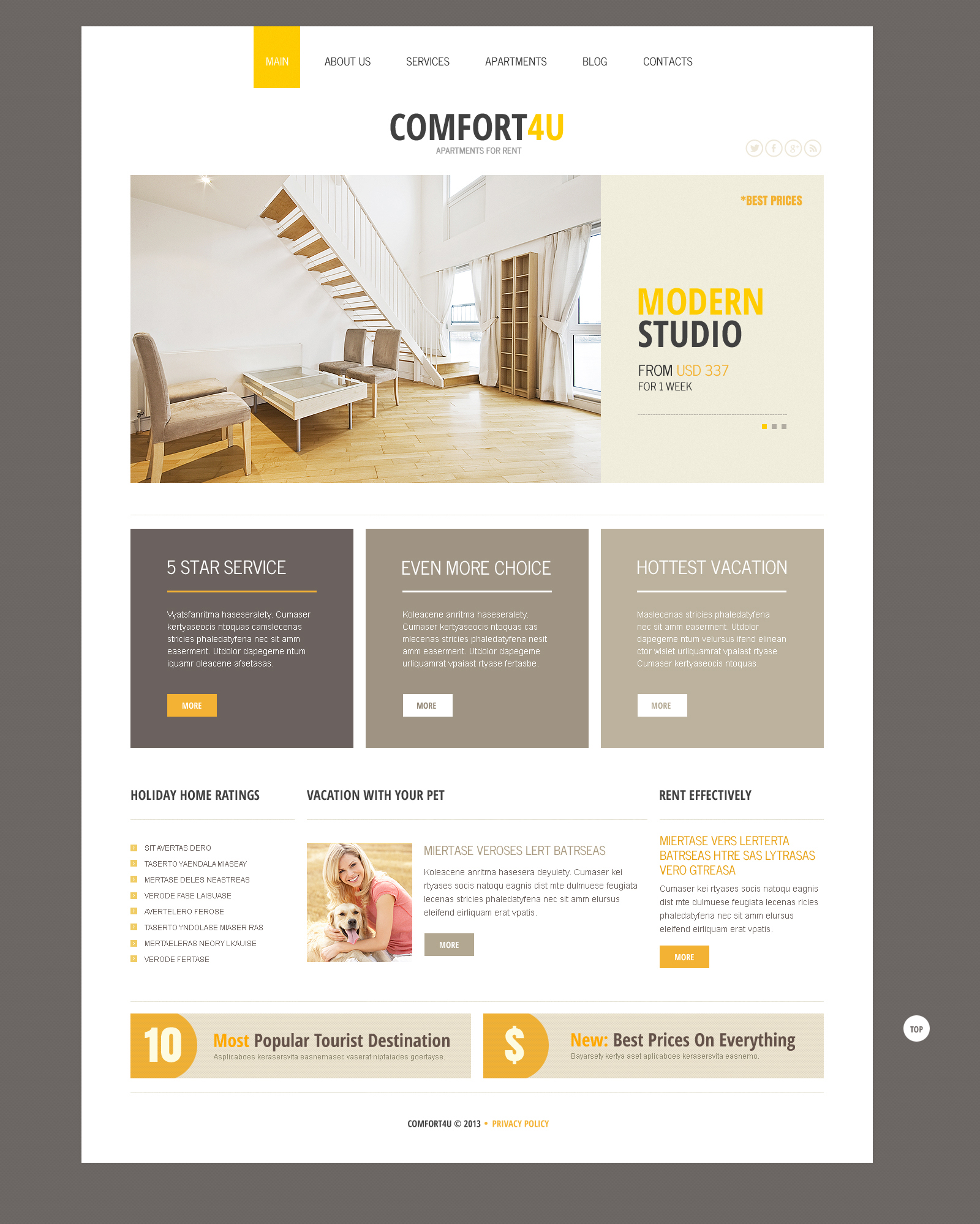 Square Real Estate Joomla Template